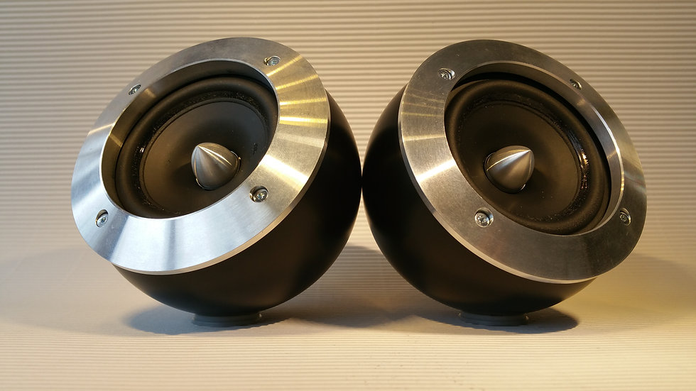 Black Midrange Pods for Focal with Cover Rings
