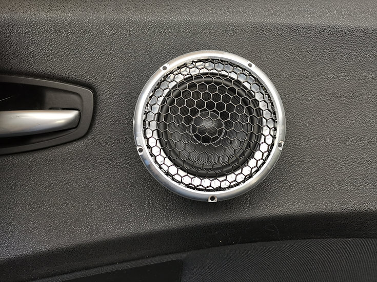 Audio System Aluminum Rings with Grills for Midrange, Ø110mm
