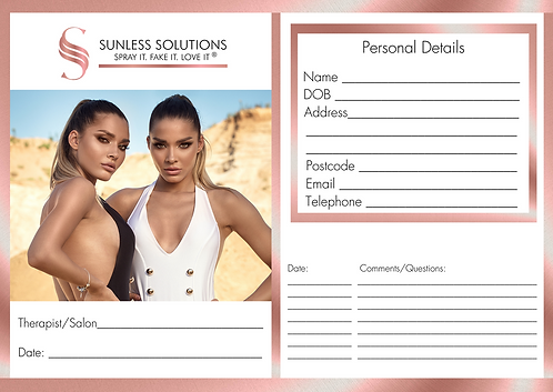 Client Consultation Cards - Pack of 50