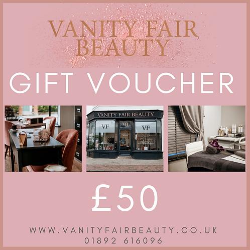 £50 Vanity Fair Beauty Voucher
