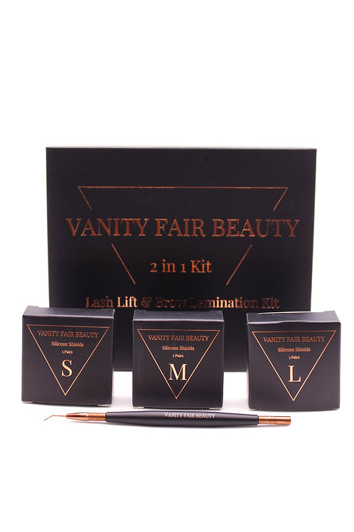 Lash Lift and Brow Lamination Kit with Shields