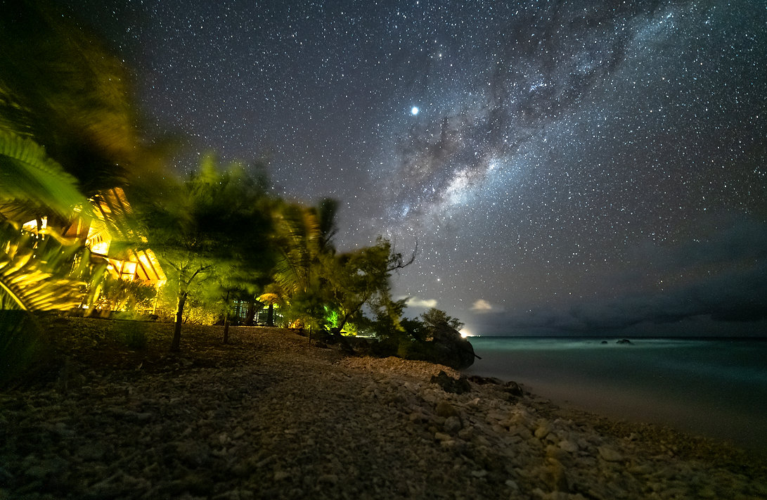 milkyway in Rangiroa
