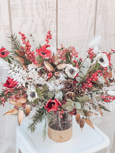 """A Very Merry Christmas""  Vase Arrangement (Large)"