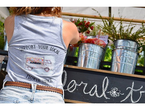 """Support Your Local Flower Truck"" Women's T-Shirt"