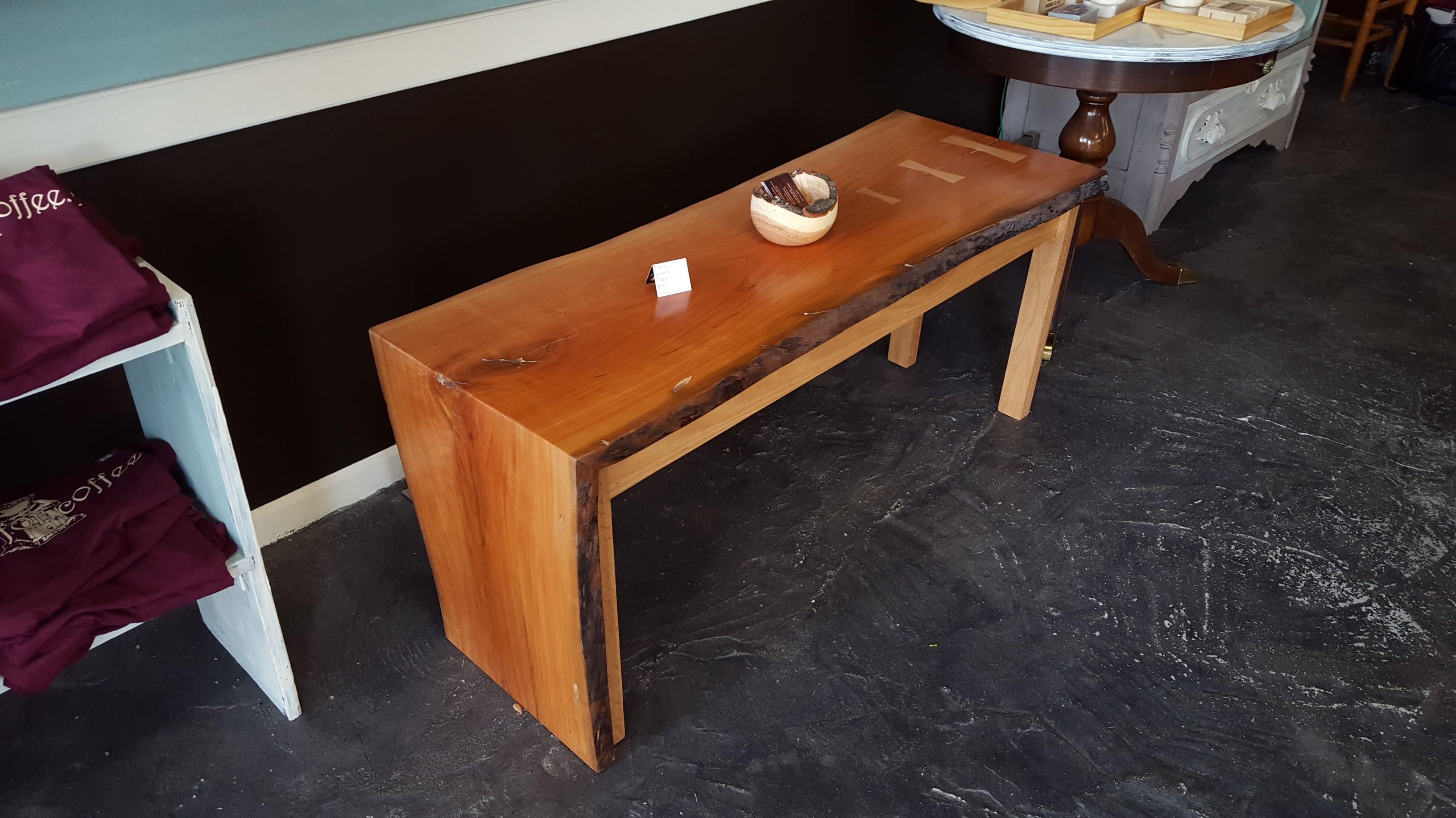 Live Edge Cherry Waterfall Coffee Table