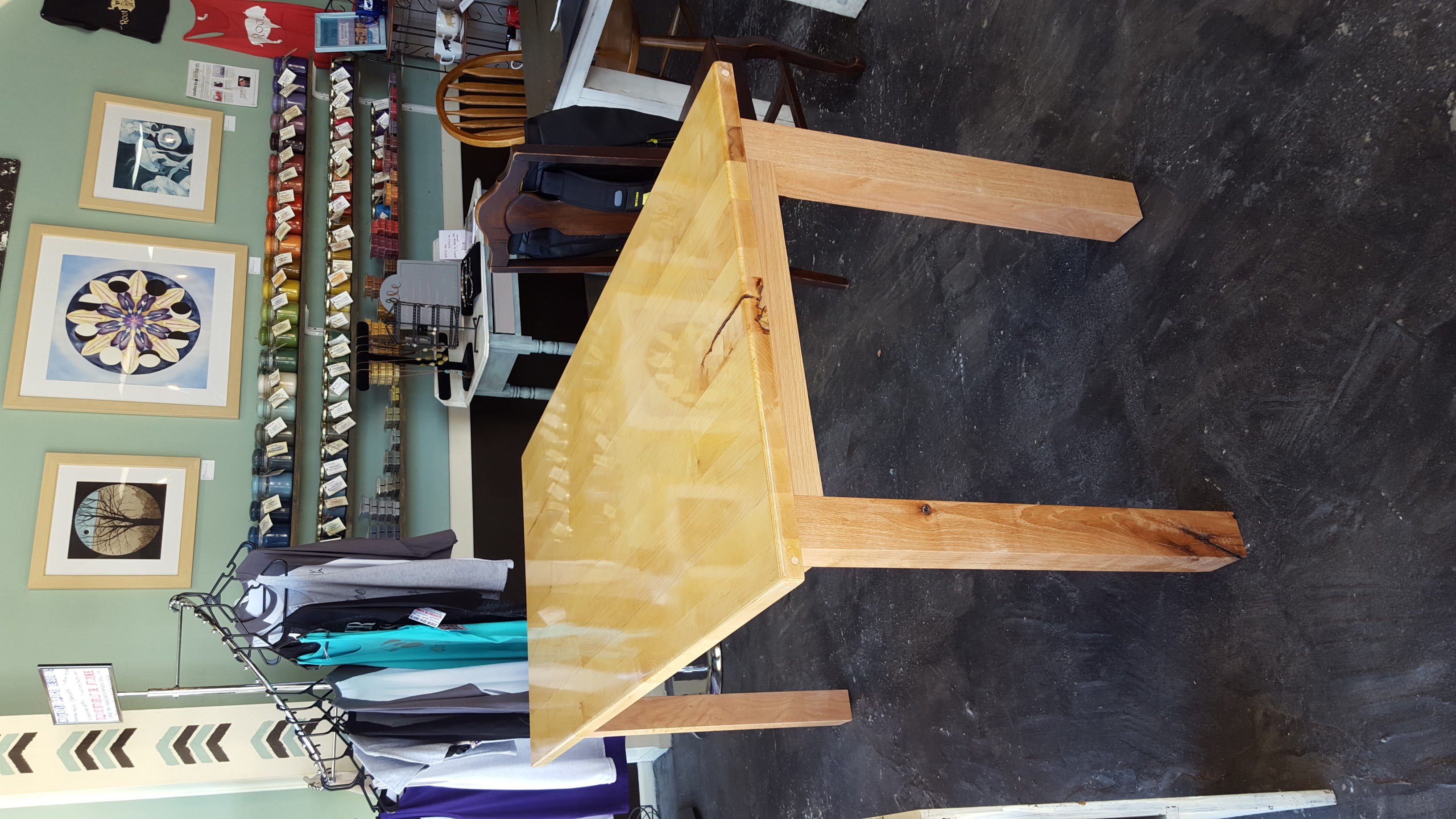 Maple and Oak Table, Root Coffeehouse, Pittsburg, Kansas