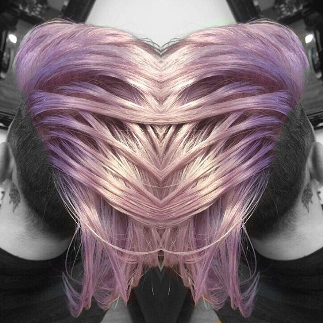 A throwback to when I got to get creative with this long lilac Mohawk