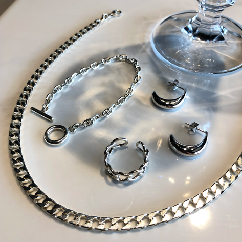 Set of silver 925 accessories