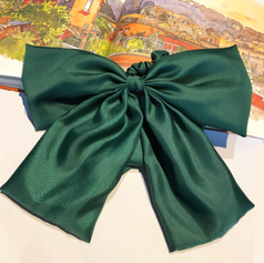 Large scrunchies in green