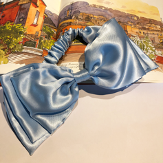 Headwrap in blue satin