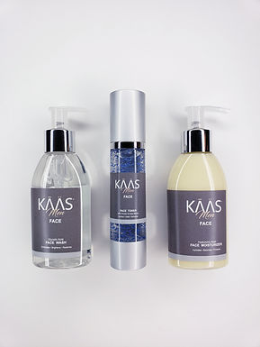No Gift Box KAAS Face: 3 Step Skincare System Infused with Vanilla Tobacco