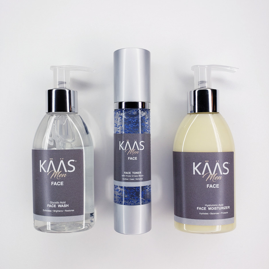 KAAS Face: 3 Step Skincare System Infused with Vanilla Tobacco