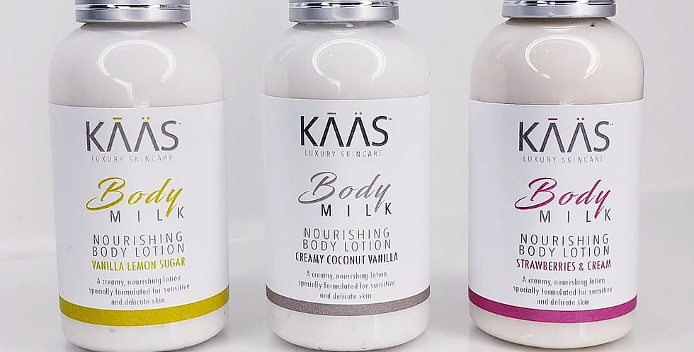 KAAS Traveler Trio Nourishing Body Lotion Collection