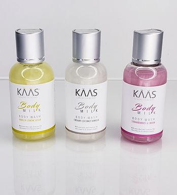 KAAS Traveler Trio Body Wash Collection