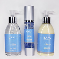 KAAS Face: 3 Step Skincare System Infused with Creamy Coconut Vanilla