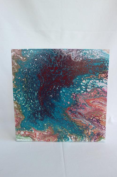 WANDPANEEL acryl turq/rood 30
