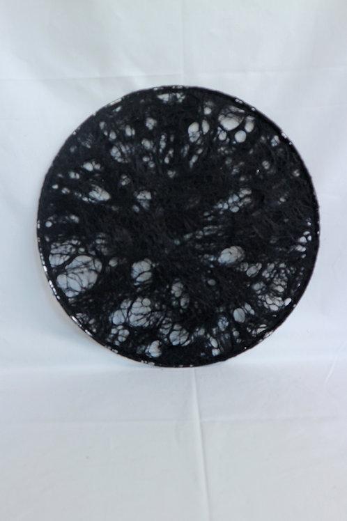 WALLHANGER zwart transparant