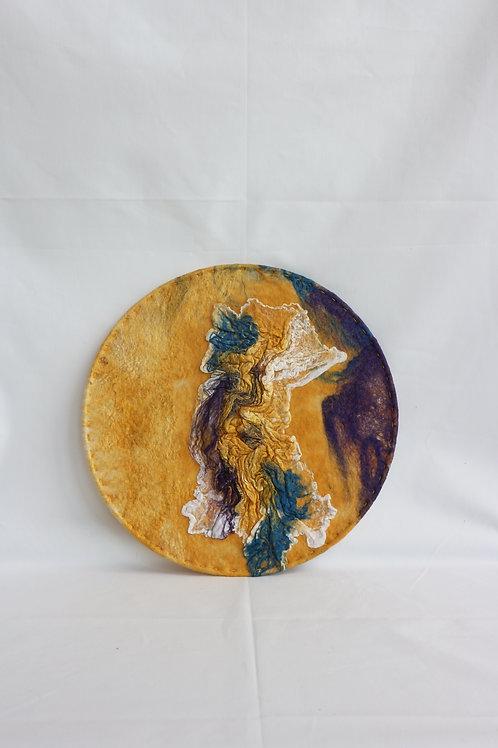 WALLHANGER geel/paars texturen