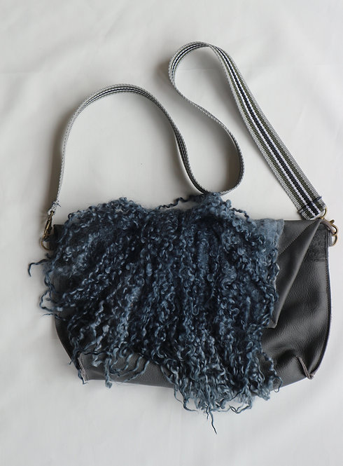 BAGS grey leather