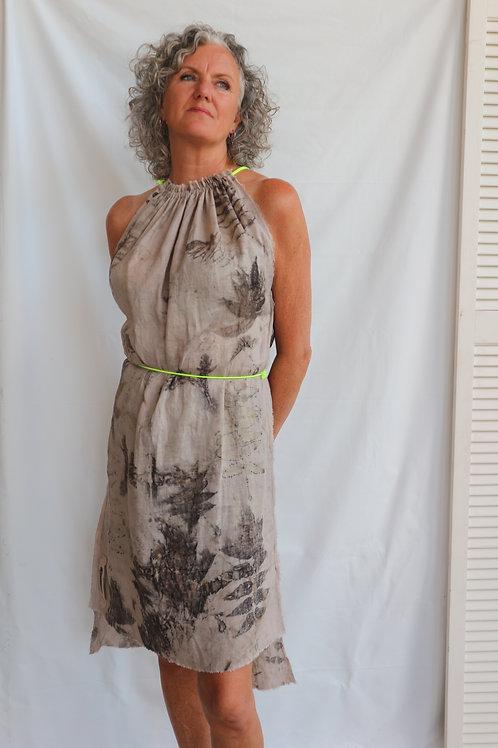 DRESS ecoprint neongeel