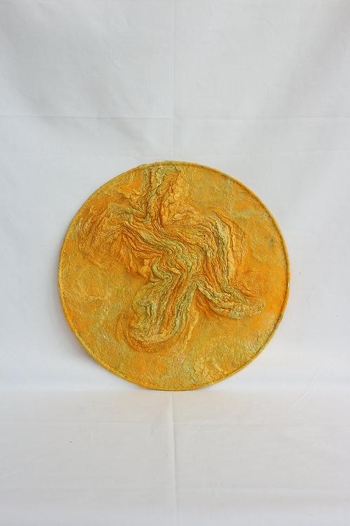 WALLHANGER geel texturen