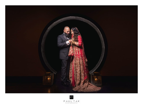 Asian wedding muslim wedding couple pose