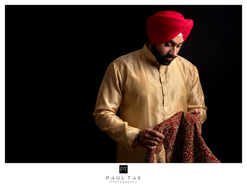 Sikh Grrom prep shot sikh wedding photog
