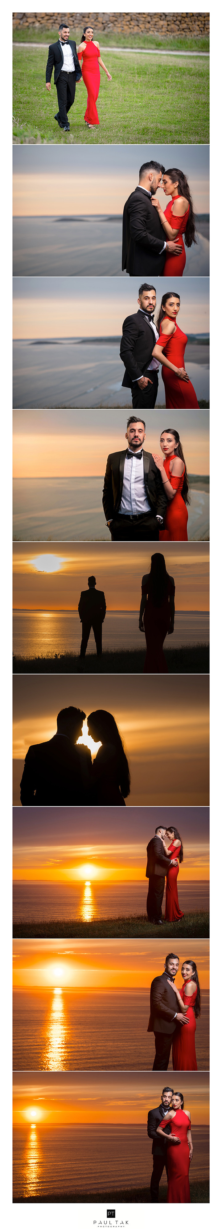 End of the day pre shoot sun setting captured by asian wedding photographer