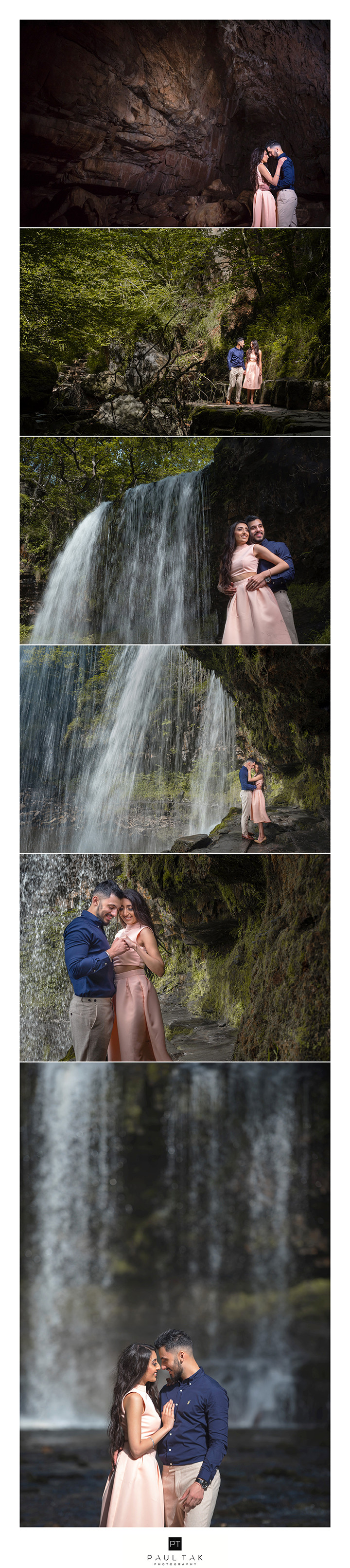 mixed images from pre shoot in wales indian wedding photogrpher