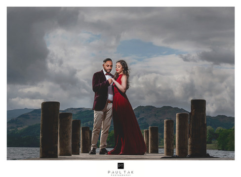 couple shoot lake district indian weddin