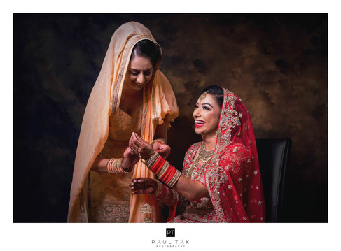 Bride and sister in law asian wedding ph