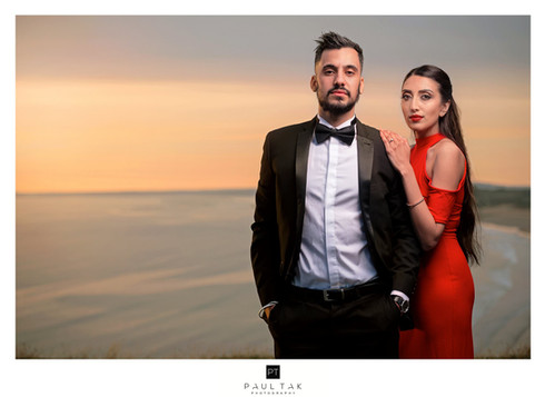 cliff top wales Indian wedding Photograp