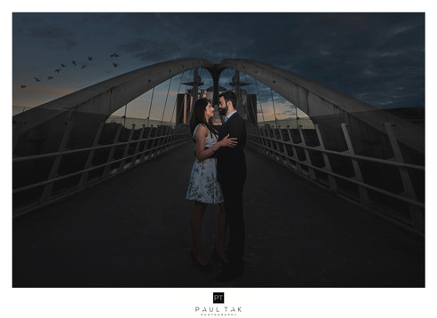 bridge couple shoot Asian wedding photog