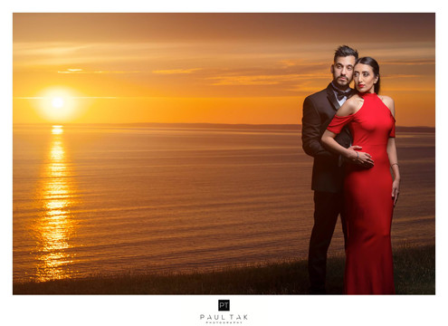 Sun setting couple shoot lindian wedding