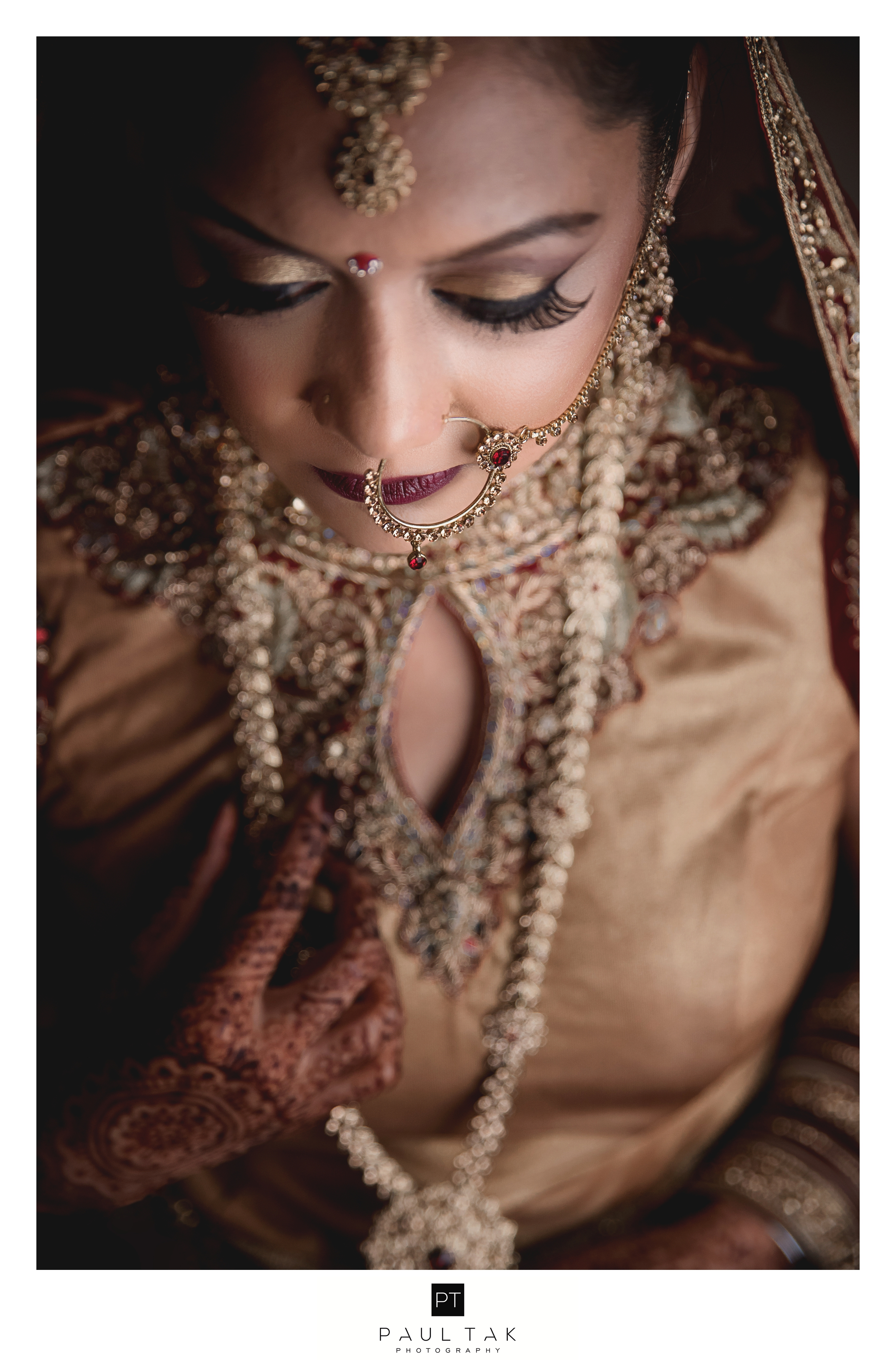 Asian bride pose