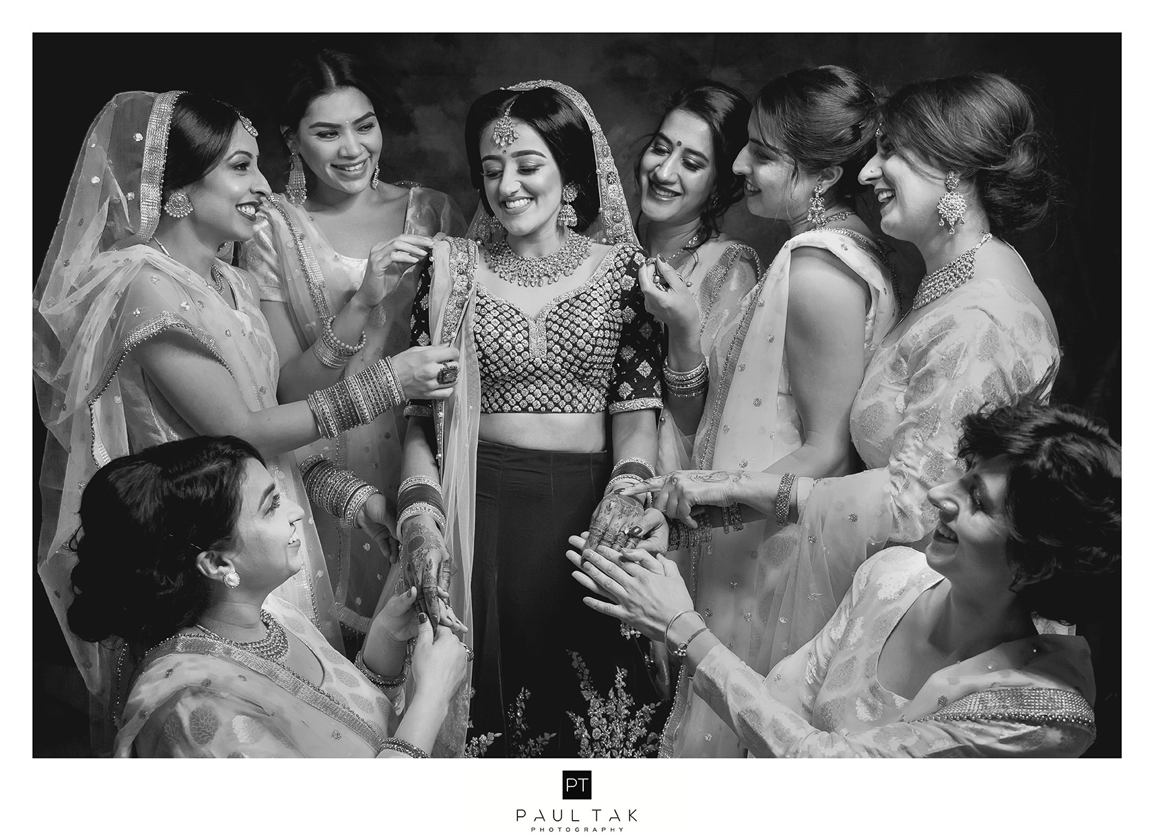 Bridesmaids Asian wedding photography