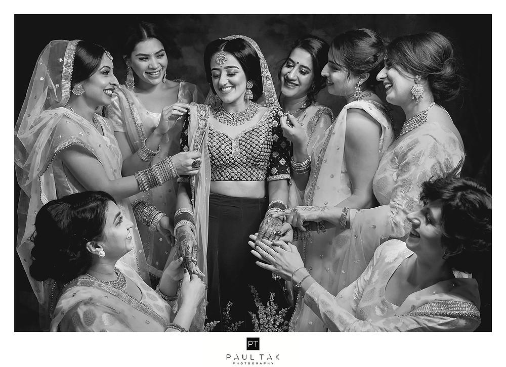 Asian wedding photography bridesmaids