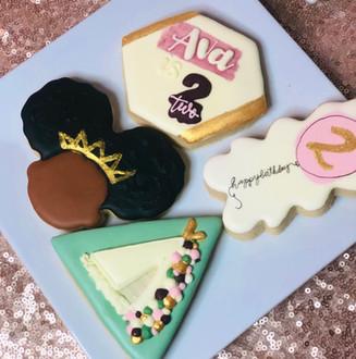 Boho 2nd Birthday Cookies
