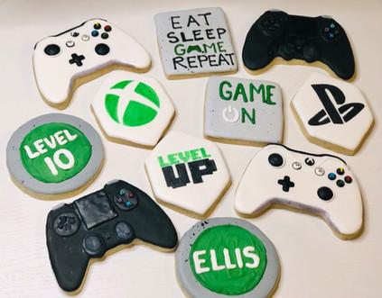 Gamer 10th Birthday Cookies