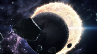 Intro for AP Cinema film production company Planets in room, cosmos, two suns, Solar Eclipse, Produced by Triada Studio Direction by Hasmik Mkhchyan Creative/Art direction, Motion graphics, Design, Look Development, Particle simulation, Compositing by Hasmik Mkhchyan Softs 3ds max, after efects, Particle flow, adobe photoshop