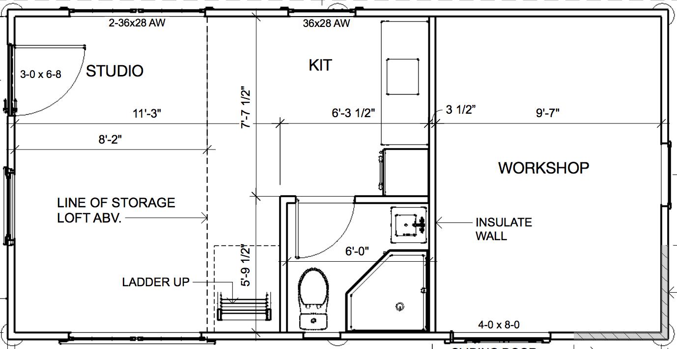 Solar Cottage interior plans