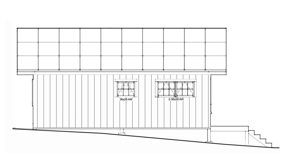 Side View - Solar Cottage