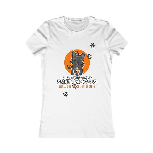 """Women's """"Small Packages"""" Fitted Tee"""