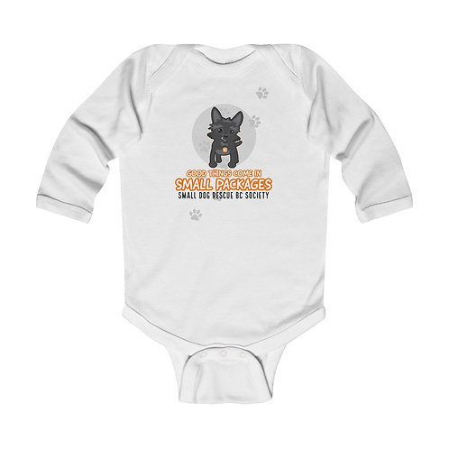 """Infant """"Small Packages"""" Long Sleeve Bodysuit"""