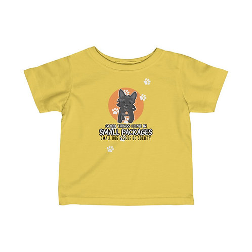 """Infant """"Small Packages"""" Fine Jersey Tee"""