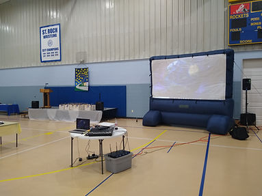 movie screen inflatable rental projector sound system indianapolis