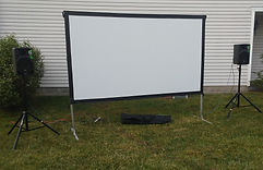 projection screen rental indianapolis outdoor movie