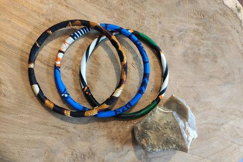 Bracelets anneaux en wax