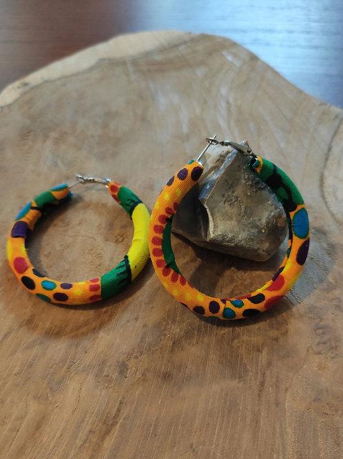 Boucle d'oreilles anneaux créole