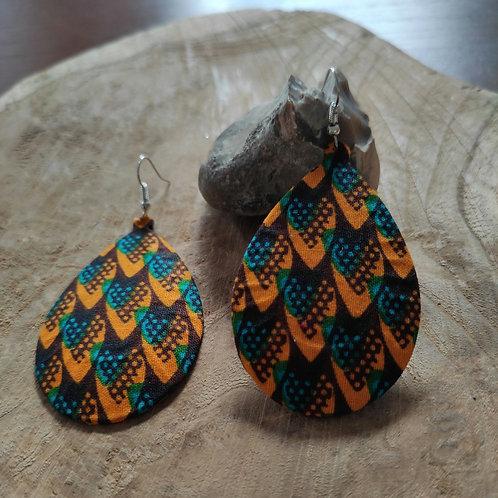 Boucles d'oreilles fantaisie pendantes en wax
